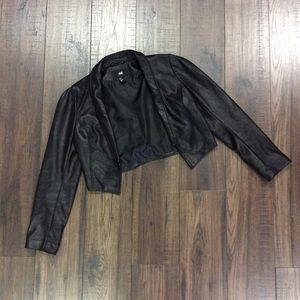 H&M Textured Cropped Jacket